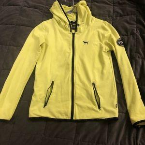 Neon yellow Pink zip up
